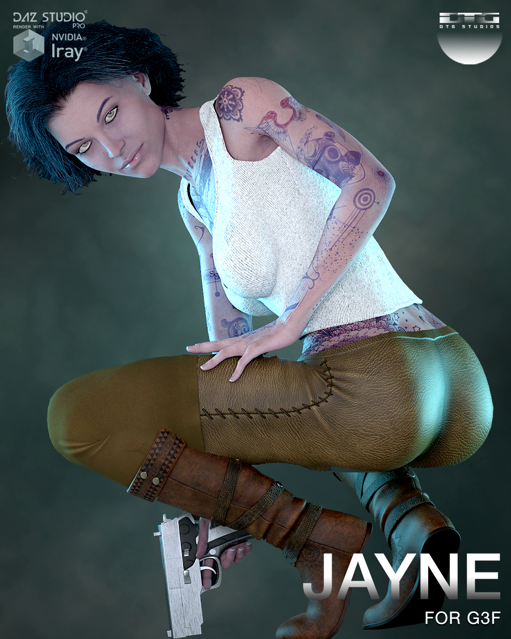 DTG Studios' Jayne for G3F by DTHUREGRIF