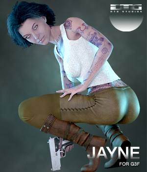 DTG Studios' Jayne for G3F 3D Figure Essentials DTHUREGRIF