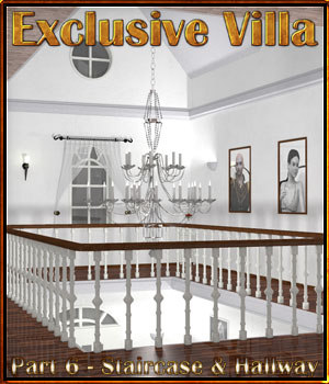 Exclusive Villa 6: Staircase and Hallways 3D Models 3-d-c
