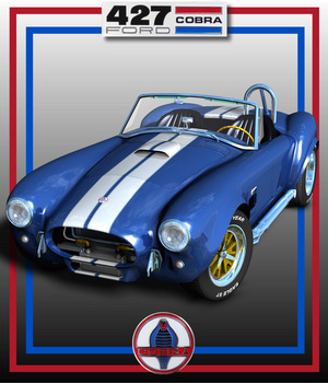 SHELBY COBRA 427 ( Poser and .obj ) 3D Models Nationale7