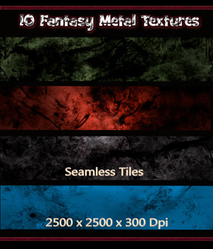 10 Seamless Fantasy Metal - Texture Tiles 2D Graphics nelmi
