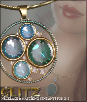 SV's Glitz Jewels Necklace 3D Figure Assets Sveva