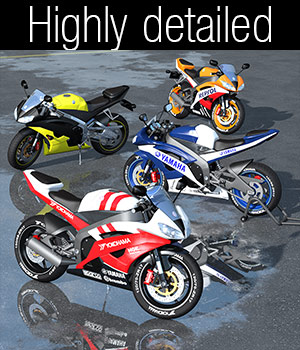 Racing Motorcycle R6 3D Models 2nd_World