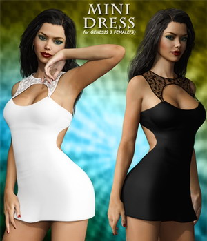 Mini Dress For Genesis 3 Female(s) 3D Figure Essentials mytilus