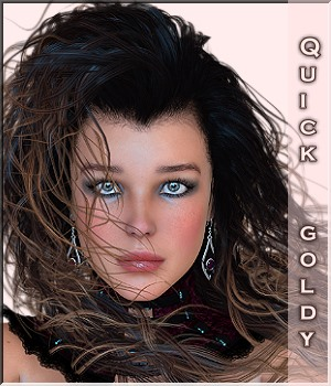 Quick-Click-Goldy - 20 Styles of Goldy Hair V4 3D Figure Essentials LUNA3D