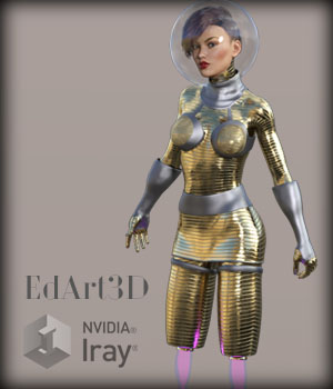 Pin-Up Gynoid Phase2 for G3F/V7 3D Figure Essentials 3D Models EdArt3D