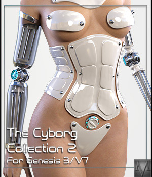 The Cyborg Collection 2 for G3F and V7 3D Figure Essentials 3D Models Mihrelle