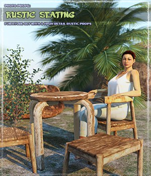 Photo Props: Rustic Seating 3D Models ShaaraMuse3D