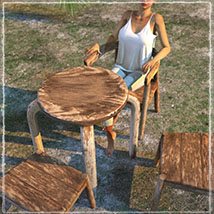 Photo Props: Rustic Seating image 1