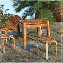 Photo Props: Rustic Seating image 3