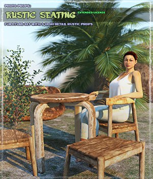 Photo Props: Rustic Seating - Extended License 3D Models Gaming Extended Licenses ShaaraMuse3D