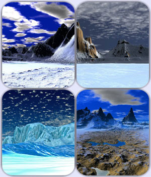 Pure Landscapes - Snowy Rocks 2D Graphics OkrimSlava