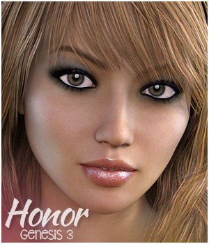 Honor for Genesis 3 Female(s) 3D Figure Essentials 3DSublimeProductions