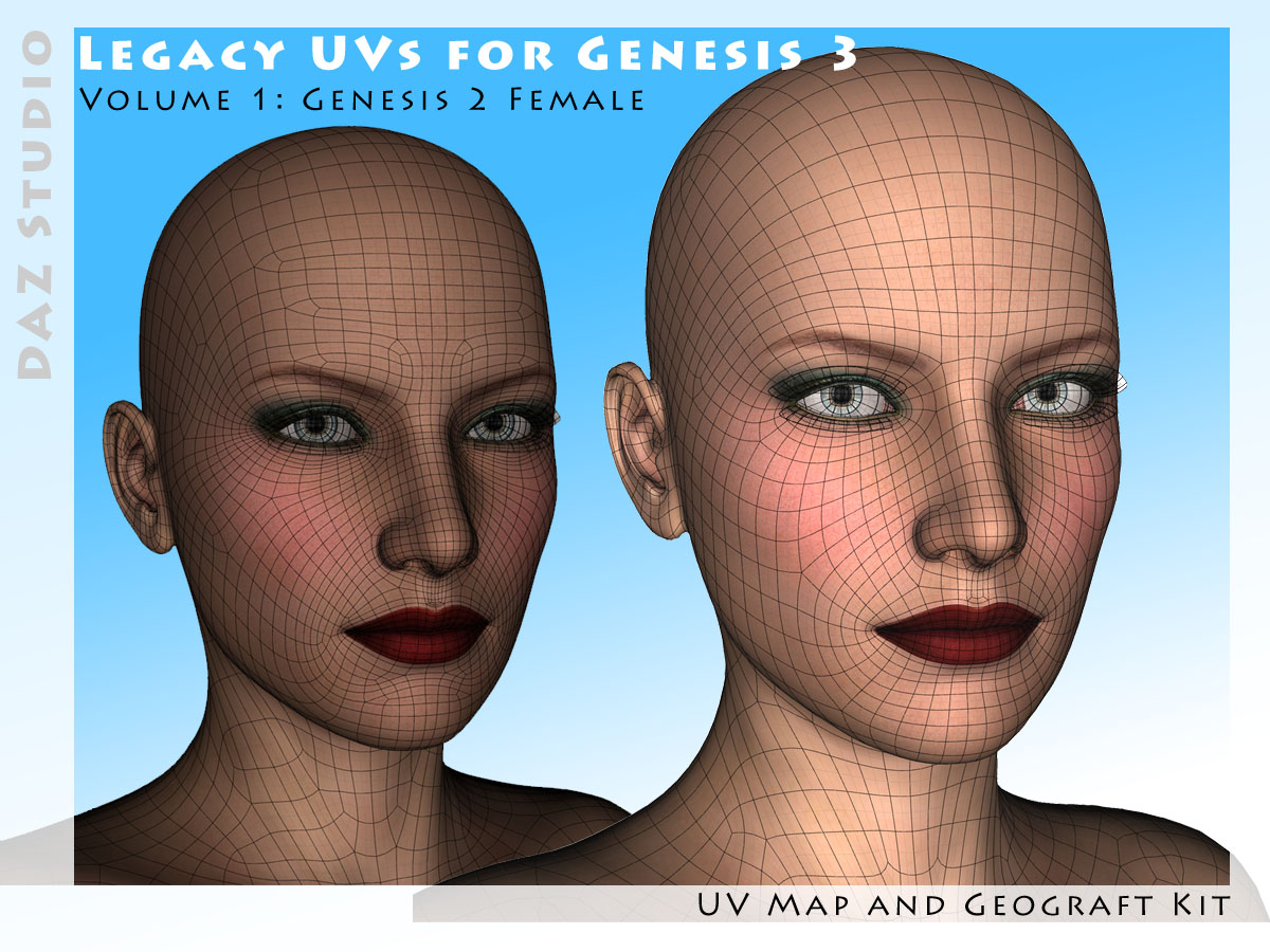 Legacy UVs for Genesis 3: G2F by CaymanStudios