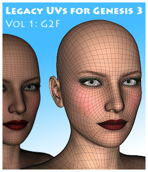 Legacy UVs for Genesis 3: G2F 3D Figure Essentials CaymanStudios