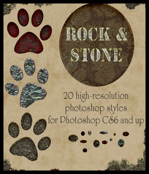 Rock and Stone Photoshop Styles 2D antje