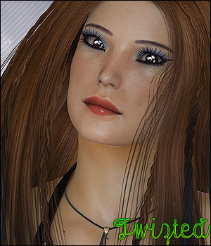 Twizted Nabia Hair 3D Figure Essentials TwiztedMetal