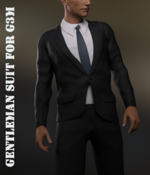 Gentleman Suit for Genesis 3 Male(s) 3D Figure Assets Toyen