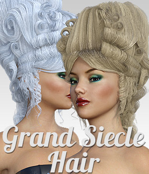 Grand Siecle Hair for G3 females 3D Figure Assets powerage
