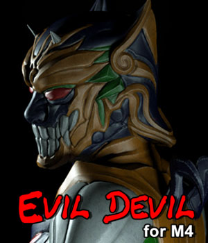 Evil Devil for M4 3D Figure Assets JerryJang