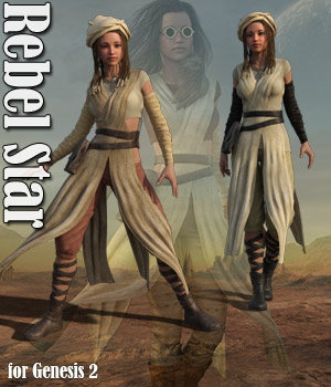 Rebel Star for Gen2 Female 3D Figure Assets 3D Models RPublishing