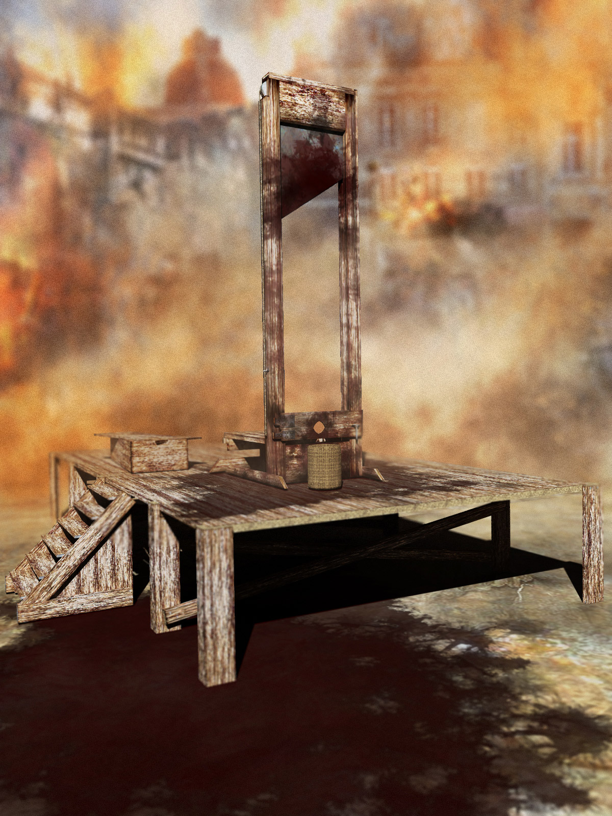 Guillotine Props Set - Extended License