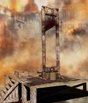 Guillotine Props Set - Extended License 3D Models Gaming Extended Licenses RPublishing