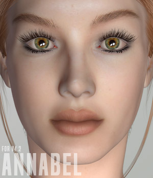 Annabel for V4.2 3D Figure Assets xtrart-3d