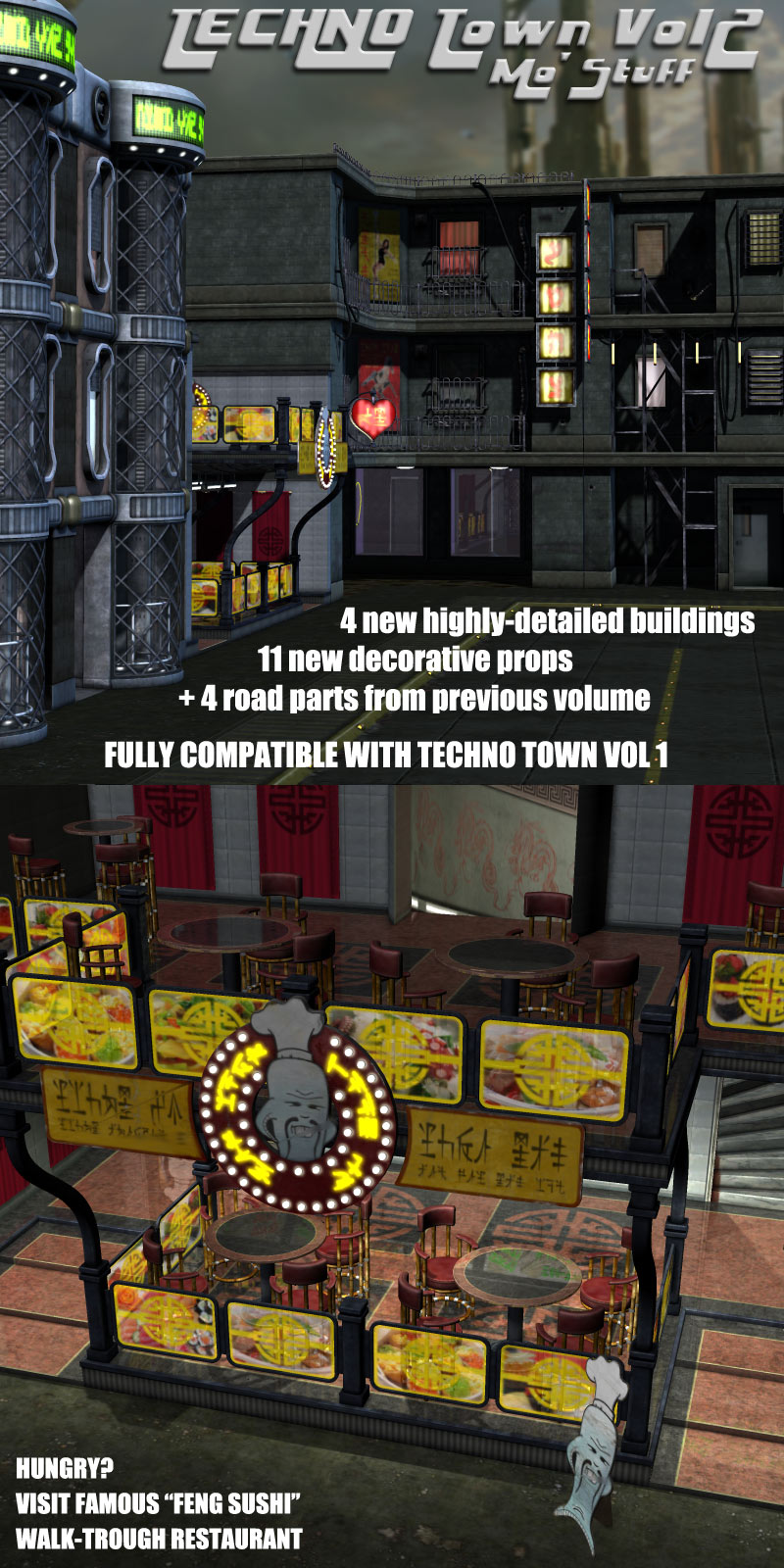 Techno Town Construction Set Vol 2 - Extended License