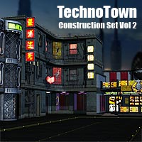 Techno Town Construction Set Vol 2 - Extended License 3D Models Gaming Extended Licenses coflek-gnorg