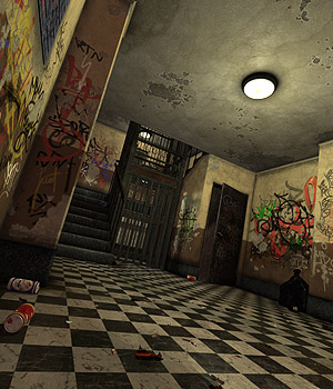 Creepy Lobby - Extended License 3D Models Extended Licenses coflek-gnorg