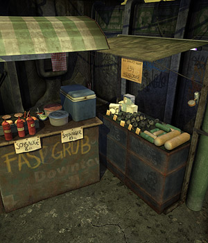 Street Shops - Extended License 3D Models Gaming Extended Licenses coflek-gnorg