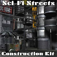 Sci-Fi Streets Construction Kit - Extended License 3D Models Gaming Extended Licenses coflek-gnorg