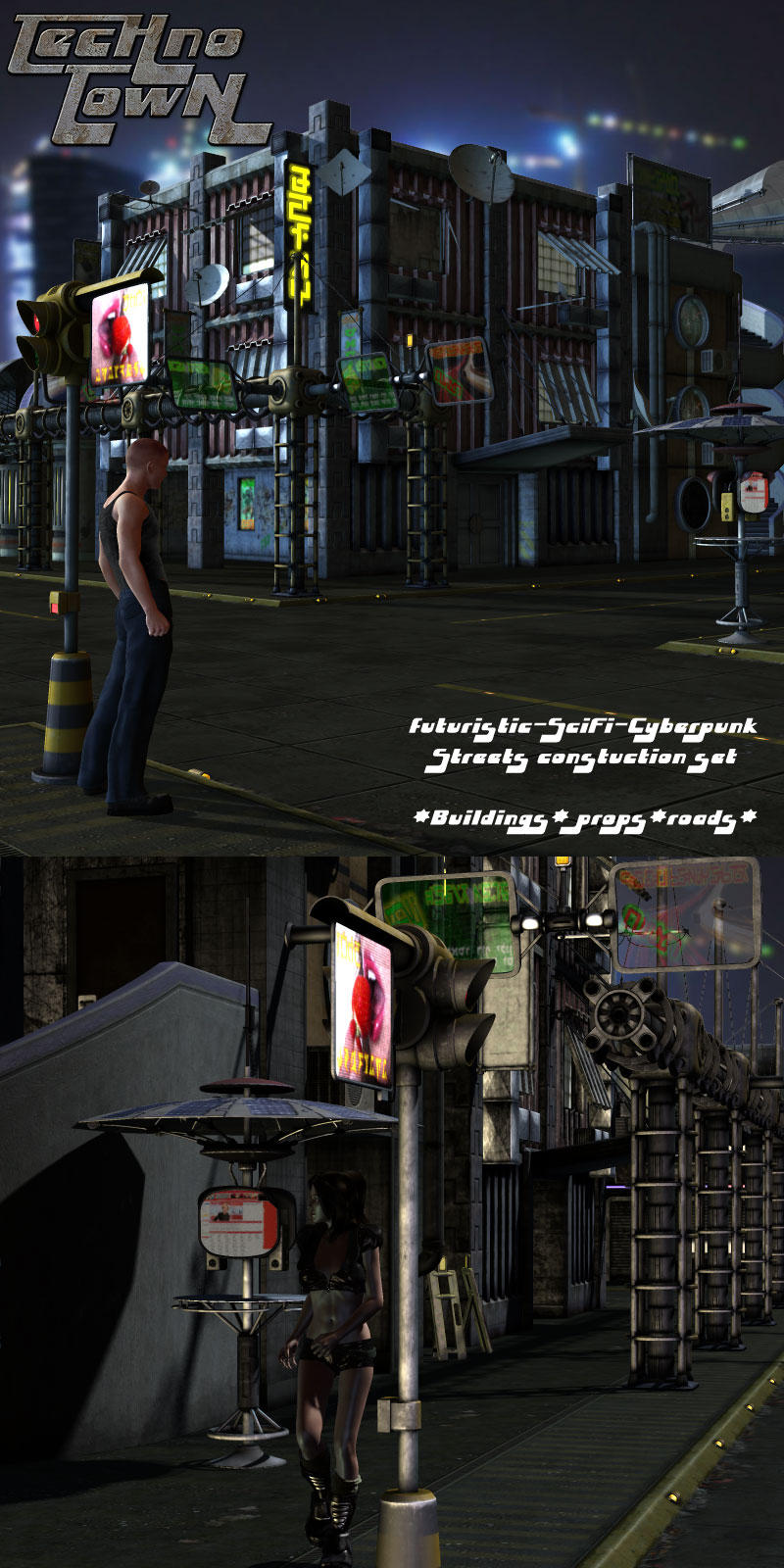 Techno Town Construction Set Vol 1 - Extended License