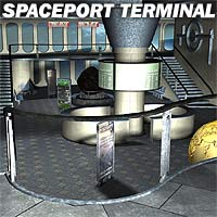 Spaceport Terminal - Extended License 3D Models Extended Licenses coflek-gnorg