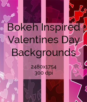 Valentine's Day Inspired Background Bokehs 2D Graphics RenderGuyNY