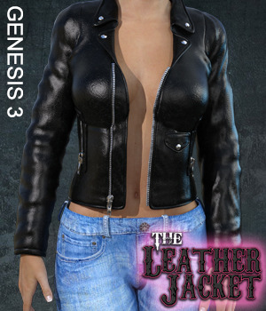 Exnem Leather Jacket for G3 3D Figure Assets exnem