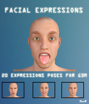 Facial expressions for G3M 3D Figure Assets TheCava