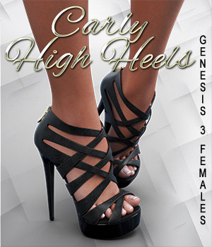 Carly High Heels for Genesis 3 Female(s) by outoftouch
