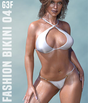 Fashion Bikini 04 for G3F 3D Figure Essentials xtrart-3d