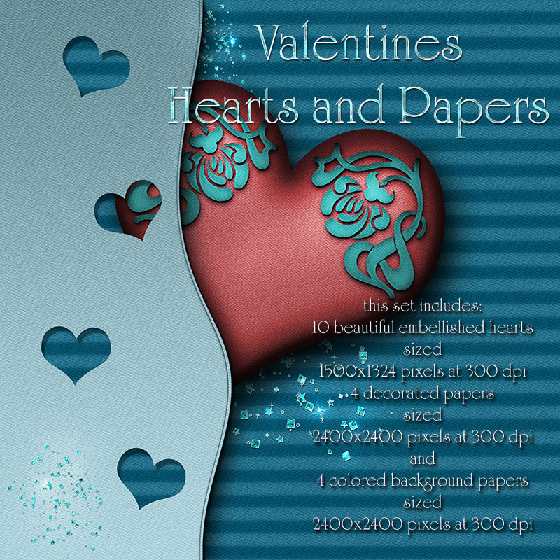 Valentines Hearts and Papers