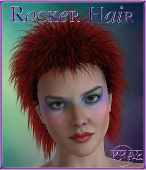 Prae-Rocker Hair 3D Figure Assets prae