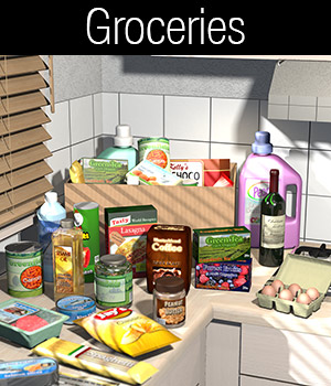 Everyday items, Groceries 3D Models 2nd_World