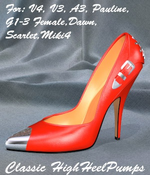 Classic HighHeelPumps 3D Figure Essentials Mysthero