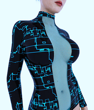 Latex & Techno 3D Figure Essentials Jimda