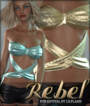 Rebel for Revival 3D Figure Assets Sveva