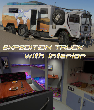 EXPEDITION TRUCK 3D Models ByteFactory3D