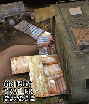 Grungy Trailer Props Set 3D Models RPublishing