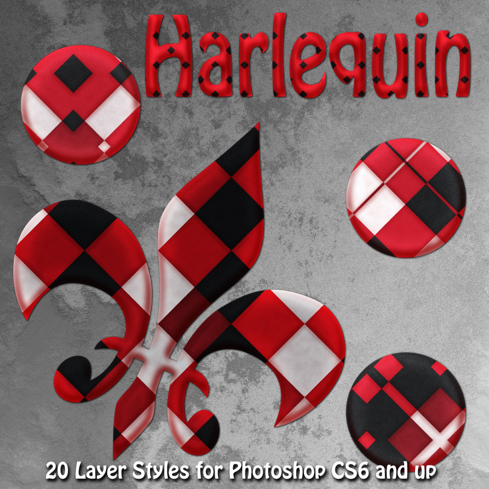 Harlequin Photoshop Styles