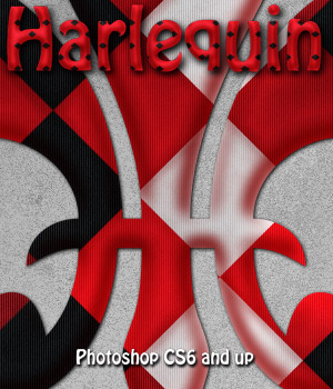 Harlequin Photoshop Styles 2D Graphics antje